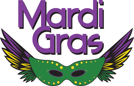 feathered: Feathered party masque for Mardi Gras celebrations. Illustration