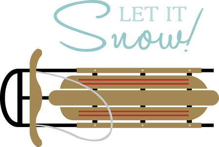 readily: When snow is on the ground, few things call to the outdoor enthusiast as readily as a good wooden snow sled. Have fun with this design by Embroidery patterns. Illustration