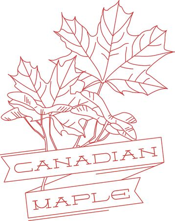 adorn: Our special Canada redwork maple leaves are a wonderful way to adorn your favorite projects.  Make your project say Canada with maple leaves and text!