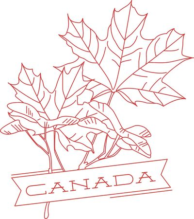 Our special Canada redwork maple leaves are a wonderful way to adorn your favorite projects.  Make your project say Canada with maple leaves and text!