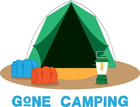 campsite: less time putting up the tent and more time enjoying their camping trip Illustration