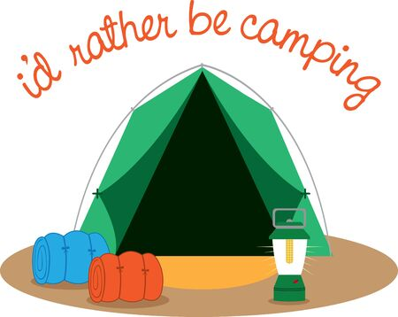 less time putting up the tent and more time enjoying their camping trip Illustration