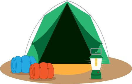 kerosene: less time putting up the tent and more time enjoying their camping trip Illustration