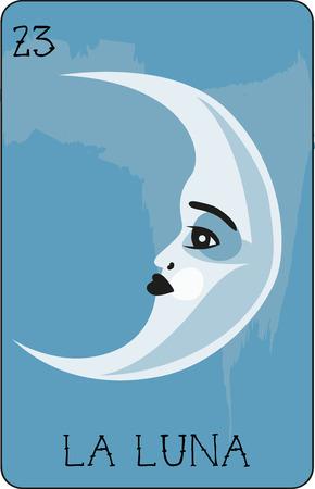 우리의 다채로운 로또 리 카드 모음에는 모든 유명한 캐릭터의 전체 컬렉션이 있습니다. 이것은 La Luna를 특징으로하는 카드 23입니다. 일러스트