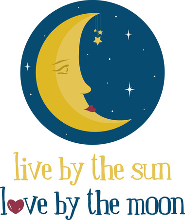 luna: Oh, man in the moon, send an evening star to wink at my dreary eyes, and I shall make a wish for a peaceful world that spins with no more lies Illustration