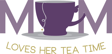 Tea with my Mom is a wonderful thing.with this design by embroidery patterns.