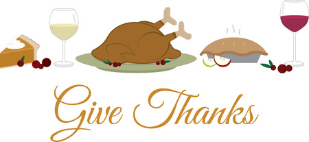 give thanks to: Use this Thanksgiving banner for your holiday project.