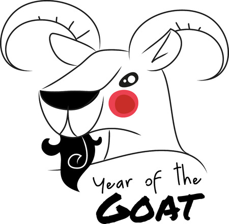 capra: Goat head is a zodiac sign in Chinese tradition