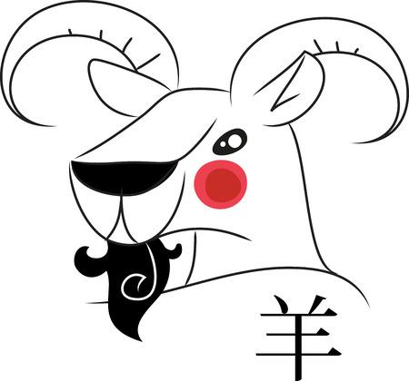 山羊頭は、中国の伝統の黄道帯の記号