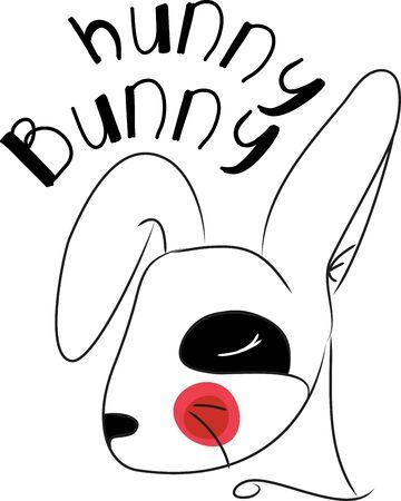 sign in: Kaninchenkopf ist ein Tierkreiszeichen in der chinesischen Tradition Illustration