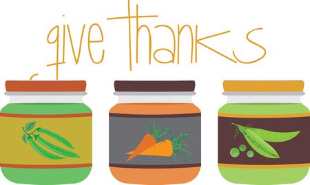 give thanks to: Remember Baby this Thanksgiving with this baby-size feast. Illustration