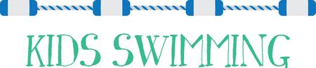 このプールのロープは、エッジ プール用のバスタオルに最適な方法です。 偉大なチームを泳ぐまたはプールの家をストックします。  イラスト・ベクター素材