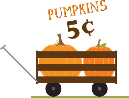 What a fun wagon for your pumpkin patch project!
