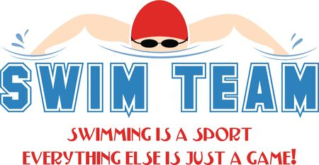 Stitch out this attractive graphic on shirts for the swim team.  Make your team stand out!
