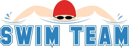 stand out: Stitch out this attractive graphic on shirts for the swim team.  Make your team stand out!
