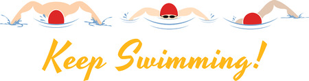 trio: Stitch out this attractive graphic on shirts for the swim team.  Make your team stand out!