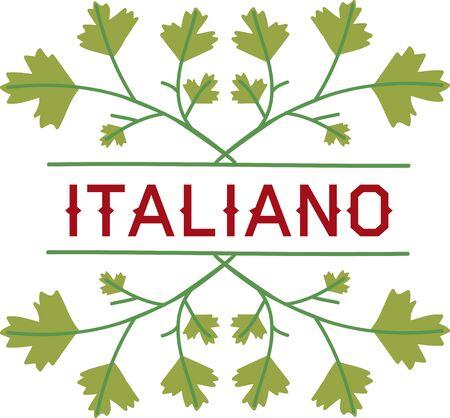 イタリアン パセリとこの空白のキャプションを使用して、あなたの台所で使用します。