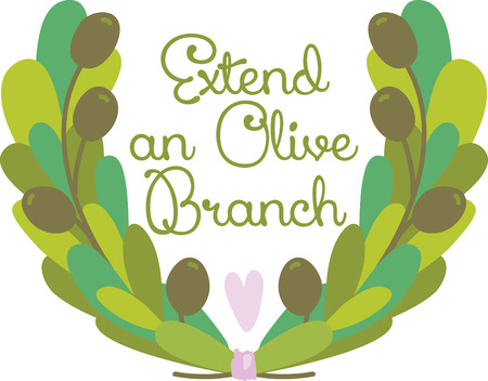 olive wreath: This olive wreath can be used for many things. Illustration