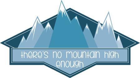 bluff: Gli sciatori apprezzeranno un grande logo per mostrare il loro sport preferito.