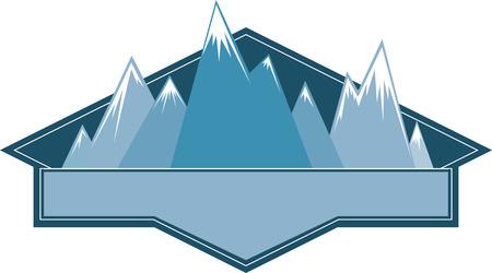 Les skieurs apprécieront un grand logo de montrer leur sport favori. Banque d'images - 42306923