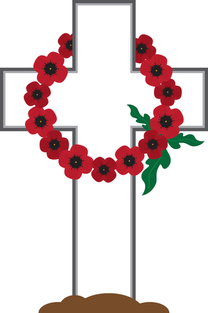 grave site: Celebrate Veterans Day with this poppy wreath grave site.