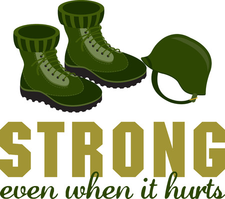 Remember the veterans with these combat boots and helmet design in your Veterans Day project.
