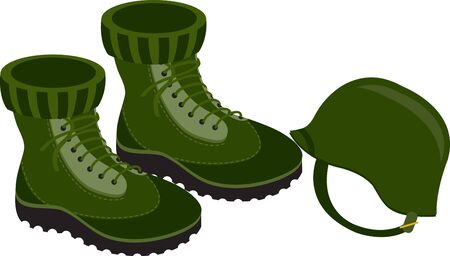 combat: Remember the veterans with these combat boots and helmet design in your Veterans Day project.