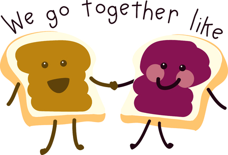 Man cannot live by bread alone; he must have peanut butter. Ilustracja
