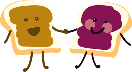 bread and butter: Man cannot live by bread alone; he must have peanut butter. Illustration