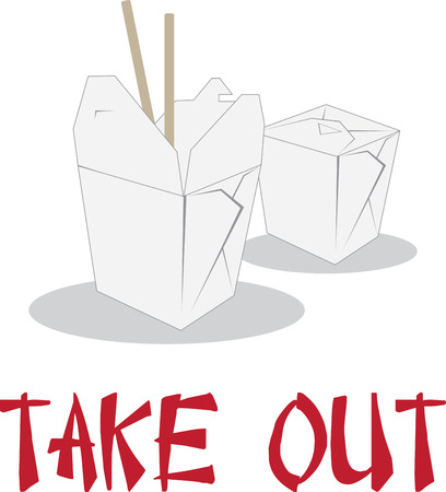 take out: Show off your love for great take out. Illustration