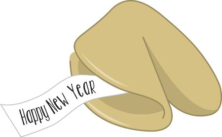 Give a fortune cookie design for good luck.