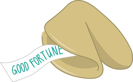 fortune cookie: Give a fortune cookie design for good luck.