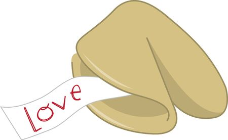 Geef een fortune cookie ontwerp voor goed geluk.