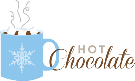 warm up: A cup of hot chocolate will warm up any winter project.