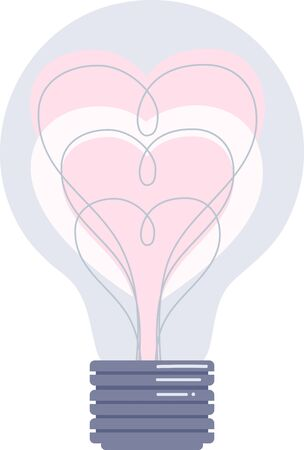 sure: These Valentine light bulb designs are sure to light up your project. Illustration