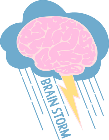 brain storm: These brain storm designs are a colorful addition to any creation. Illustration