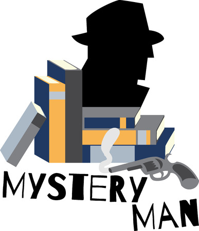 mystery man: These book designs are perfect for the reader in your life! Illustration