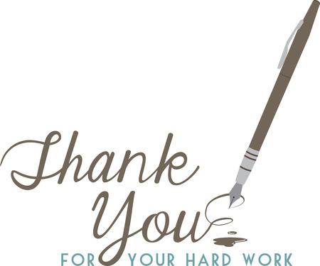 Maak een bedankbriefje extra speciaal met deze elegante pen.