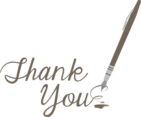 Make a thank you note extra special with this elegant pen. Çizim