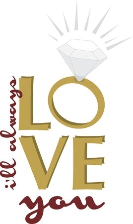 Make a great wedding gift with this beautiful diamond ring. Stock Vector - 42342366