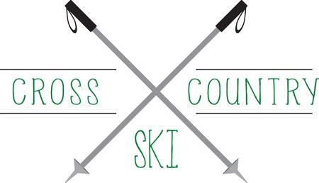 스키어들은 좋아하는 스포츠를 과시하는 위대한 로고를 좋아할 것입니다.