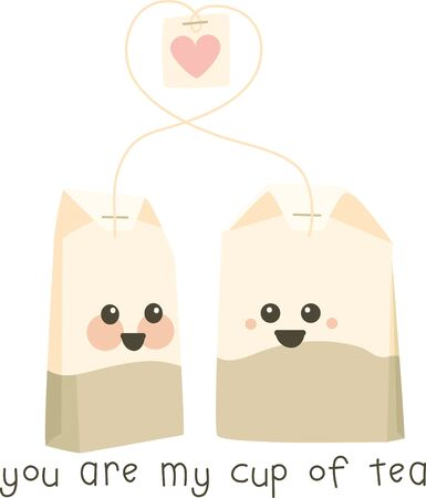 Cute talking tea bags for sweethearts.