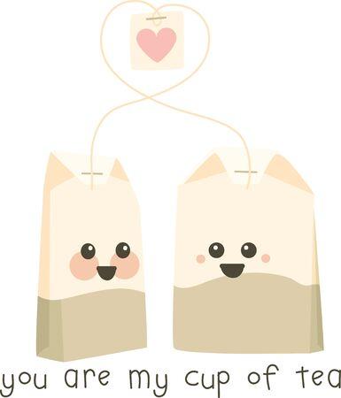 sweethearts: Cute talking tea bags for sweethearts.