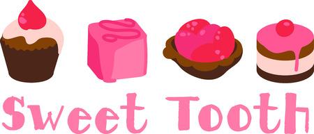 petite: Row of dessert tea cakes and petite fours.