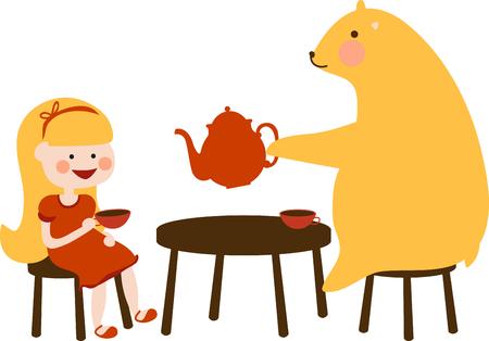 Cute honey bear holding a jar of honey.