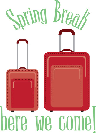 trio: Going on a trip or maybe you are a travel professional  This is a great design for your bags or shirts! Illustration