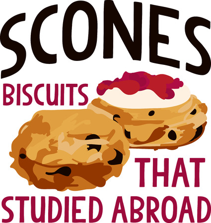 scone: Sliced breakfast scone halves.