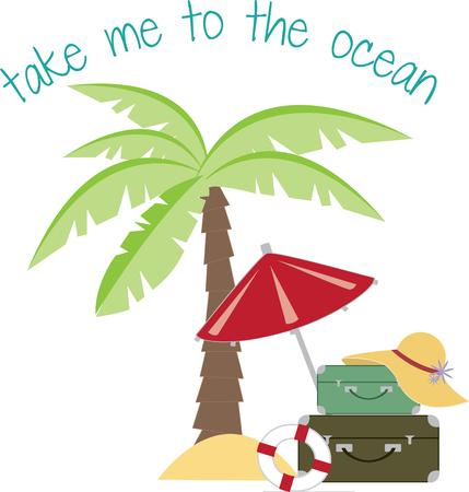 playas tropicales: No este diseño precioso de viajes dan ganas de irse a cálidas playas tropicales Trate la segunda mejor opción cuando se cose en sus bolsos y camisetas favoritas!