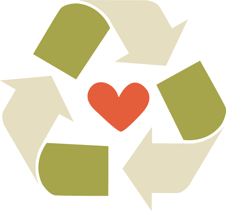 Use this great recycling theme design to create awareness about recycling and the joy you get out of preserving Earth. Ilustracja