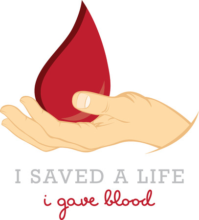 saved: Show your support for donating blood to save lives. Illustration